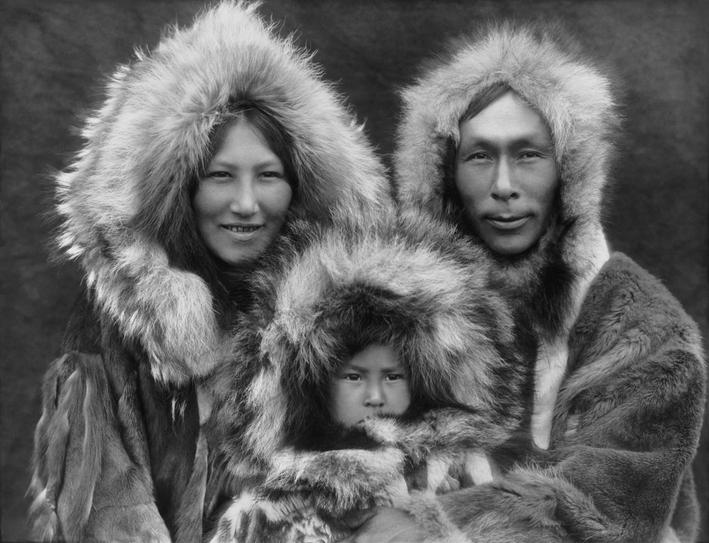 Inupiat Family from Noatak, Alaska, 1929, by Edward S. Curtis.