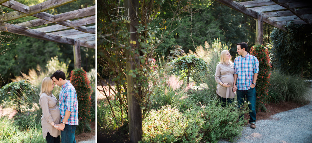 botanical garden maternity photos