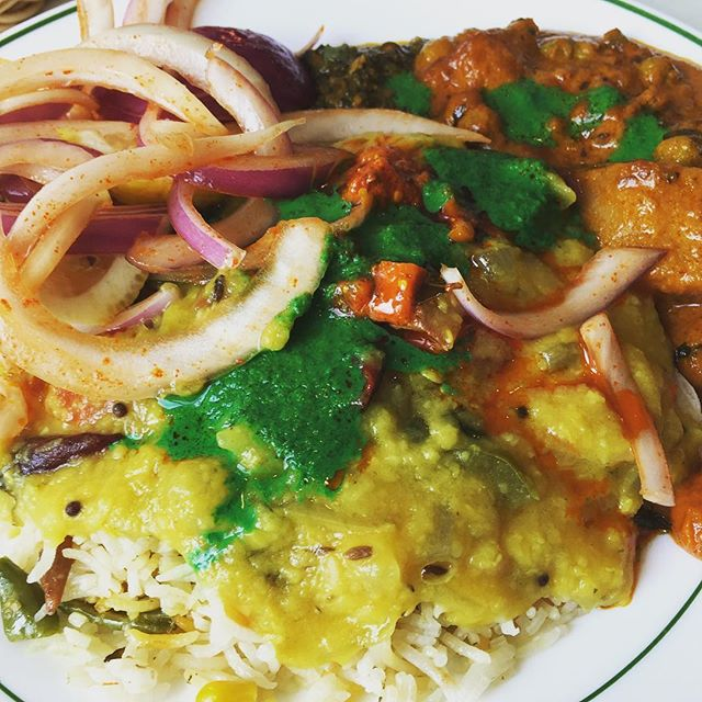 pile on. #indian #buffet #batonrouge #LSU