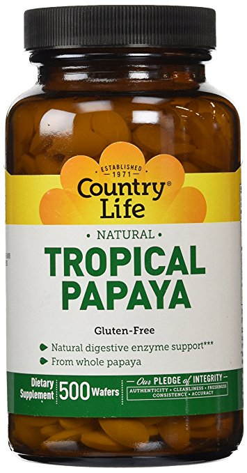 Country Life Papaya Chewable Tablet-500 Count