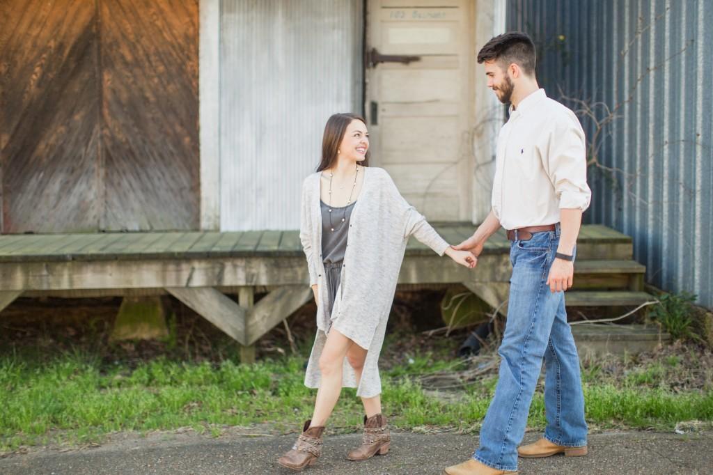 alexa & ferris | mississippi engagement | spring engagement