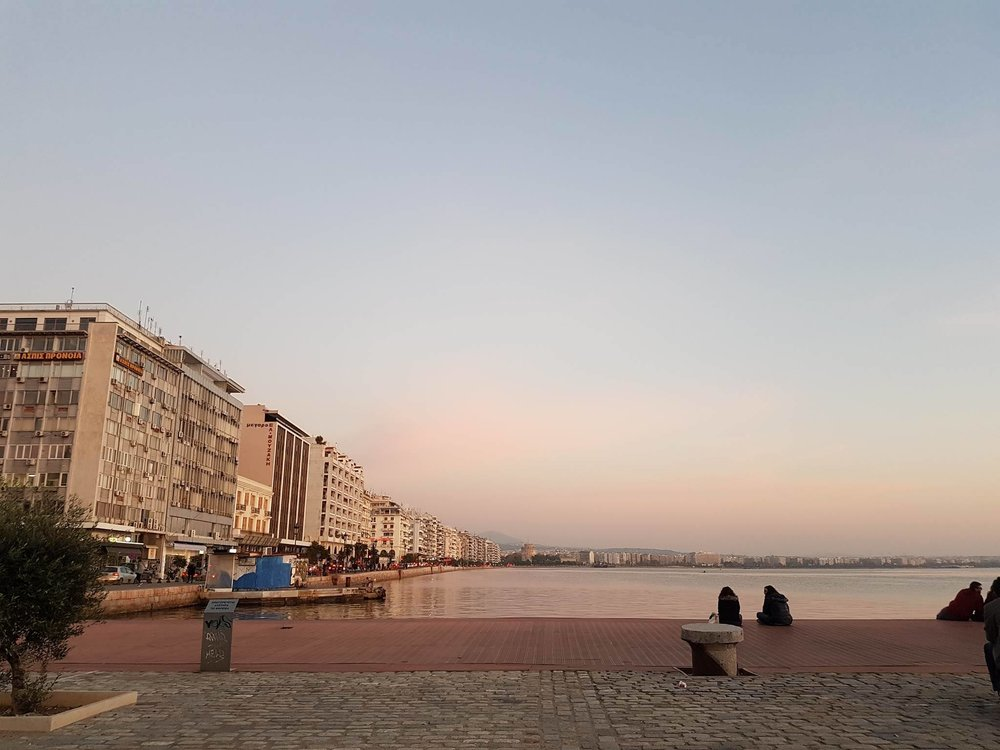 Thessaloniki's port view