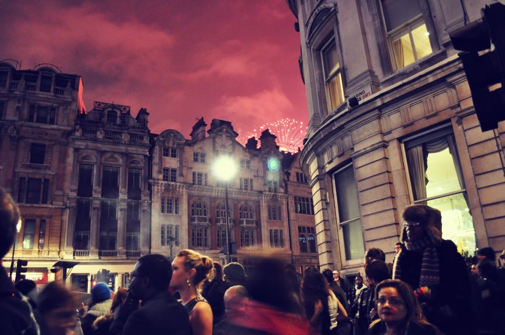 New Year at Trafalgar square in 2012!