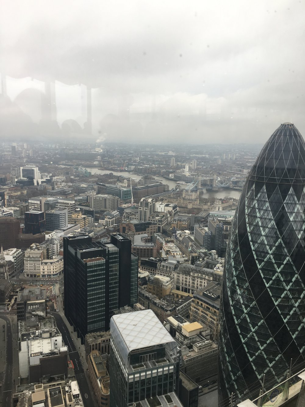 The view from Duck and Waffle.
