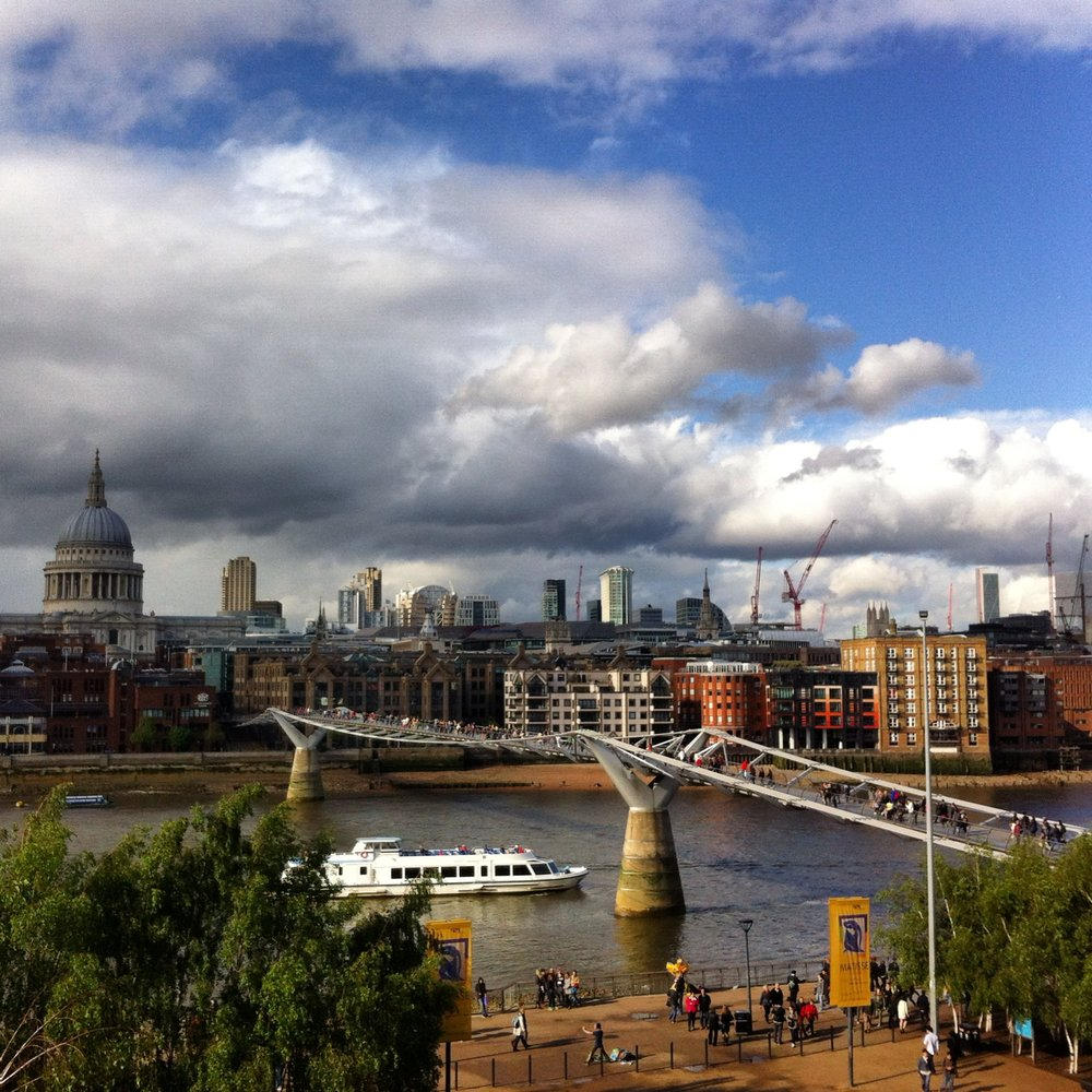 The view from Tate Modern cafe.