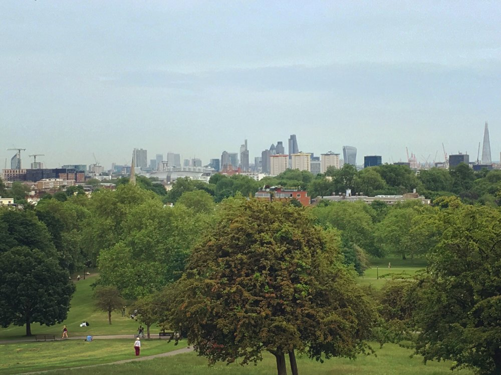 The view from Primrose Hill.