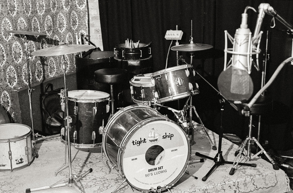 Tight Ship drum set, North Branch Studio, Chicago.
