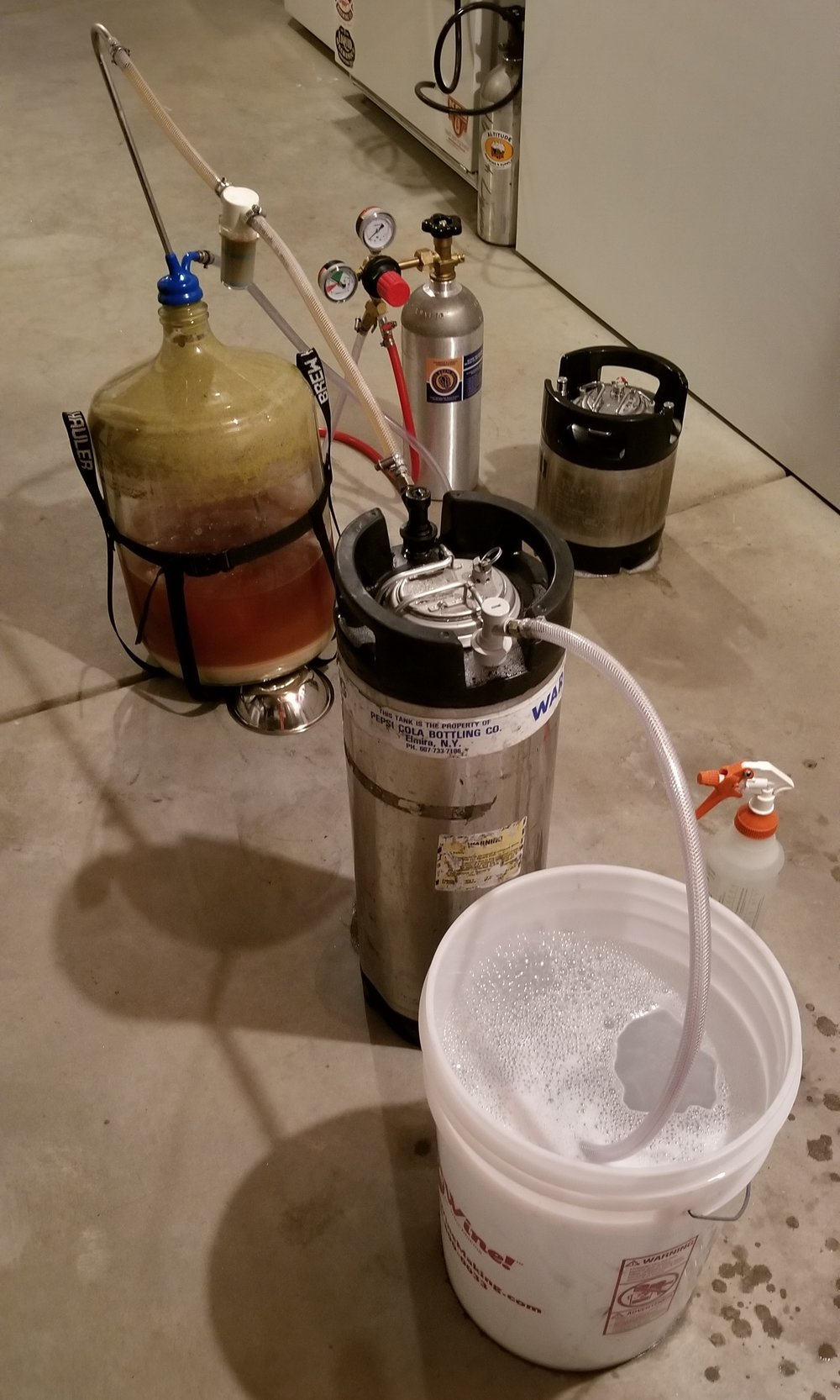 3/11/2018 - We transferred our Wheatwine to keg, sadly we onnly yielded about 4.5 gallons due to some intense blow off..... use fermcap next ... seriously its a lifesaver. An Oak Barrel will be in the mail soon. We will throw this brew in there.