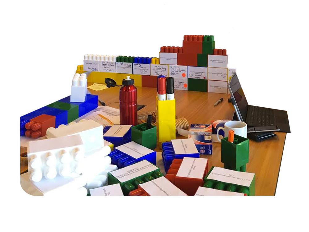 The bricks during a workshop