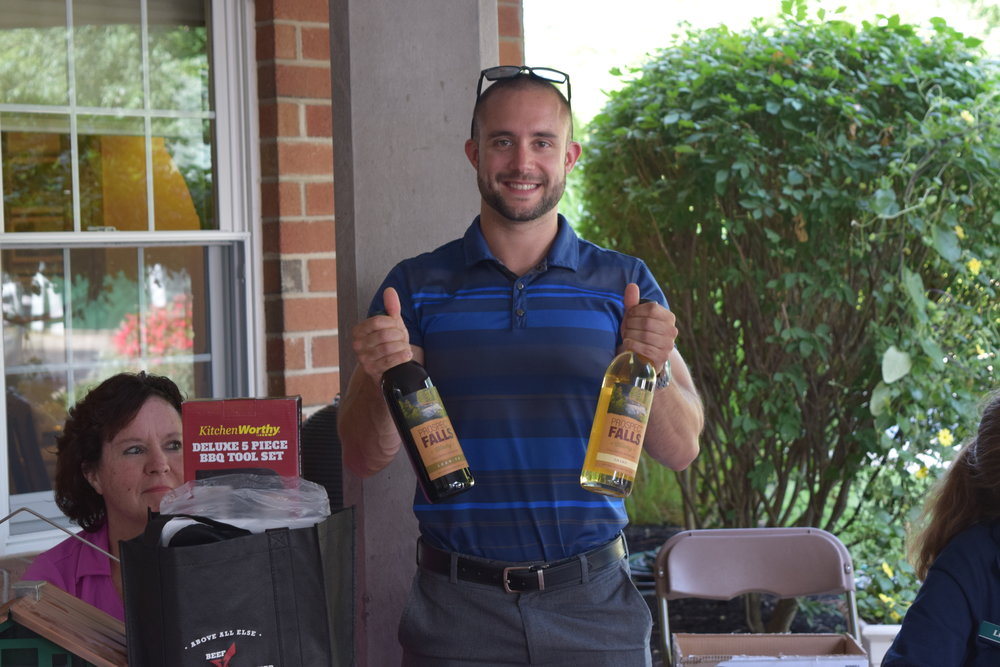 Summer-Fest 2017 Dom with Two Bottles of Prospect Falls Wine Raffle.JPG