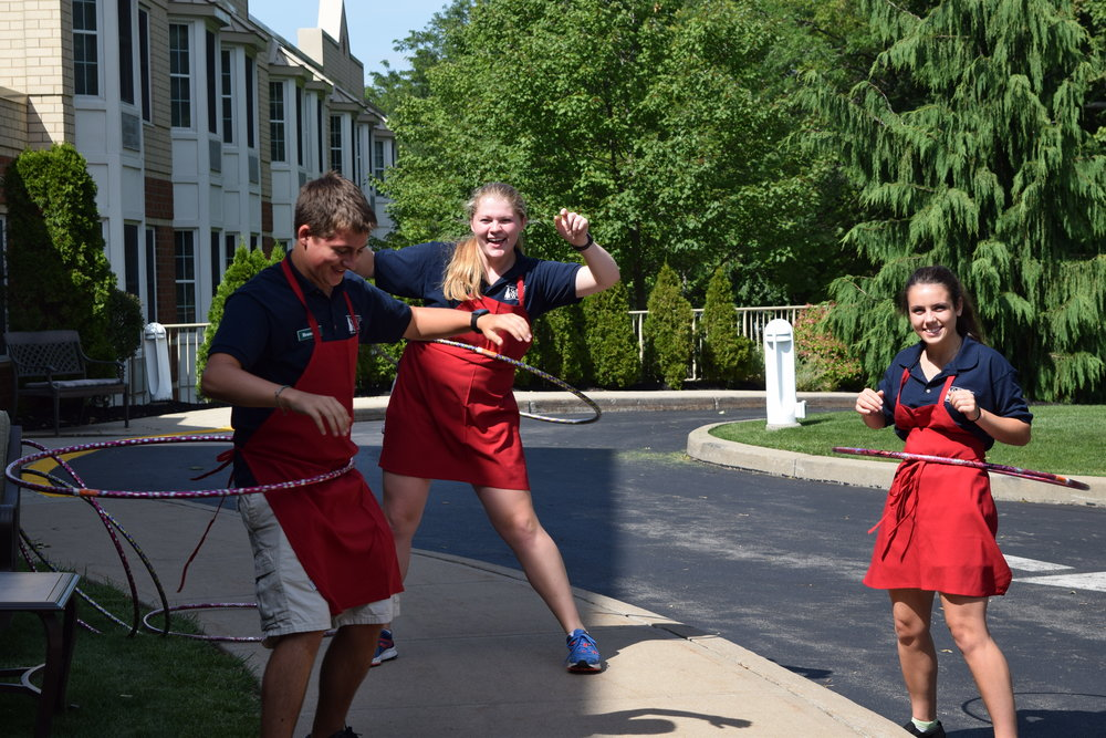 Summer-Fest 2017 Wait Staff Hula Hooping After the Event.JPG