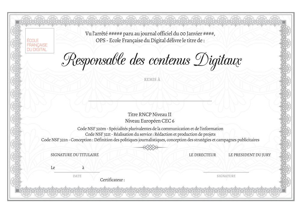 DIPLÔMANTES - Toutes les formations du groupe sont certifiées par des certifications reconnues par l'état.