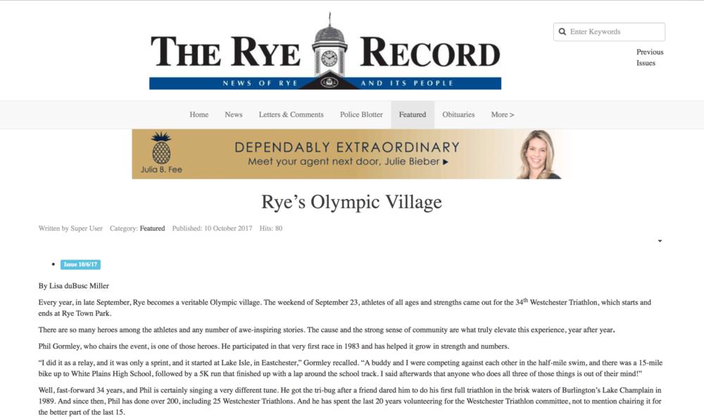 Rye's Olympic Village