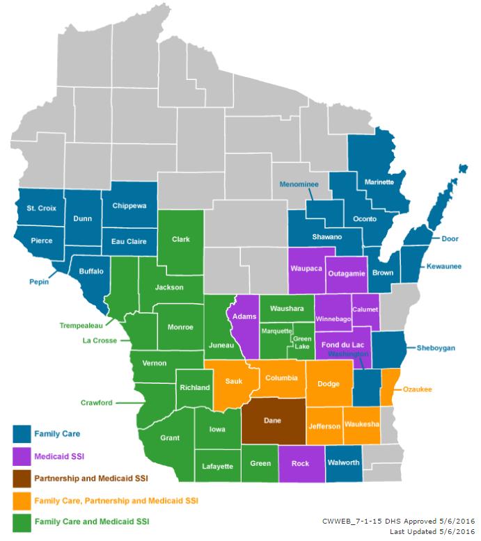 Care Wisconsin current service area