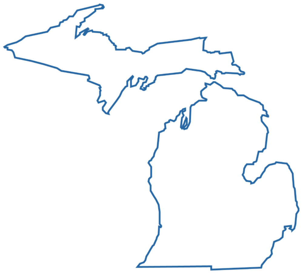 Click on the title or on the image Michigan to view a PDF of our Michigan Insurance Plan Partners.