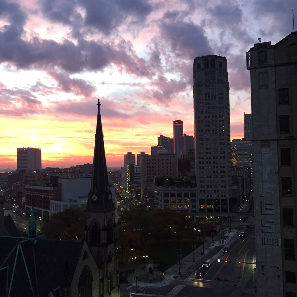 A beautiful Detroit sunset.