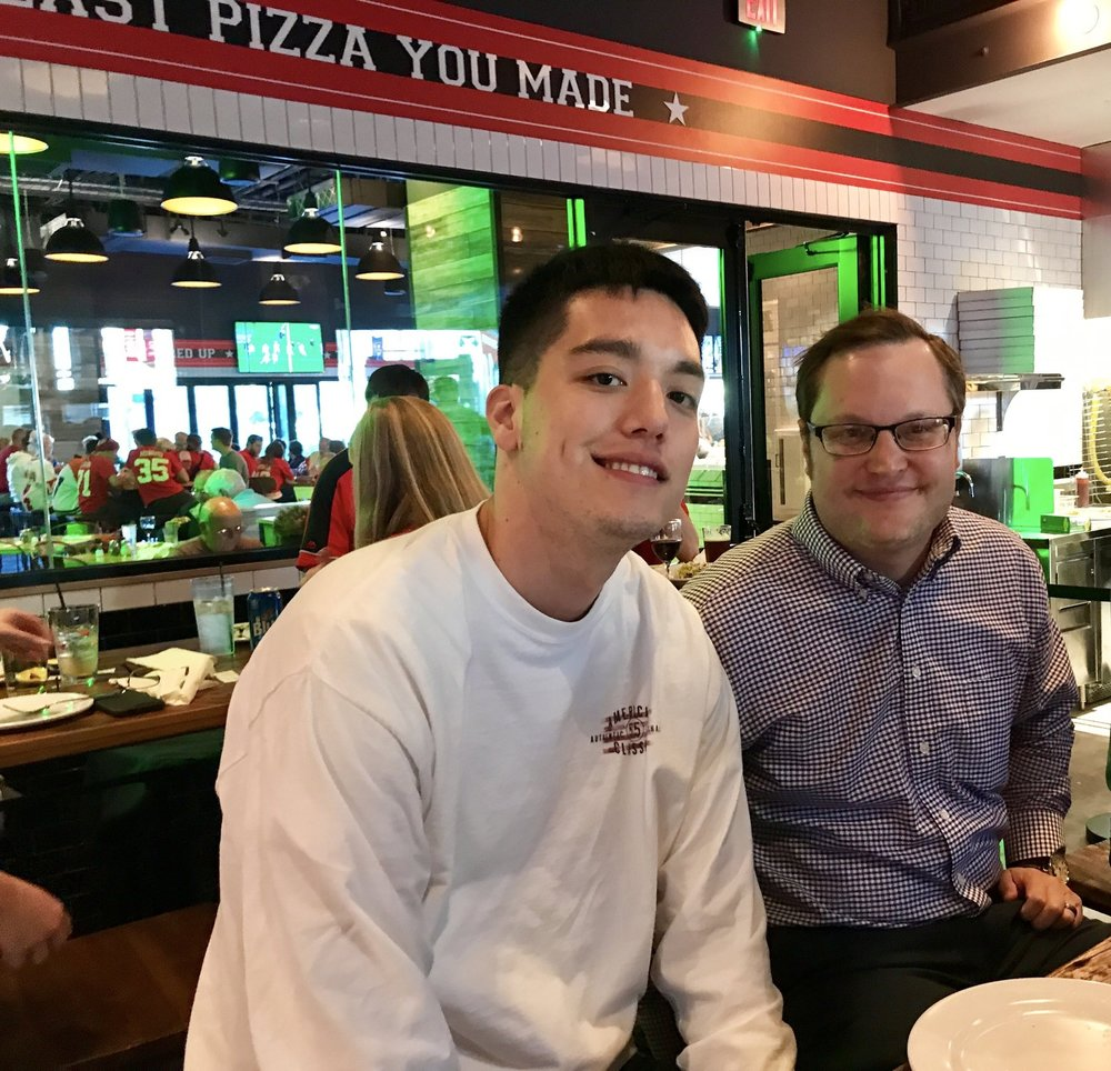 Leo & George K @ Mike's Pizza Team Event.