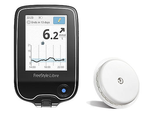 The Abbott Freestyle Libre flash glucose monitoring system.
