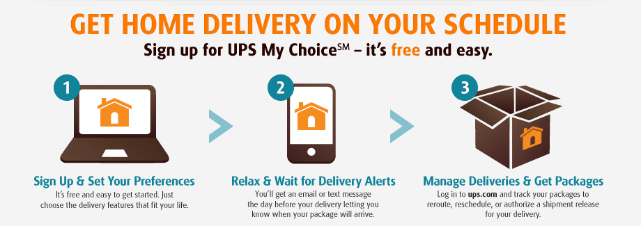 Enroll in the UPS My Choice program to gain control over your deliveries from Healthy Living.