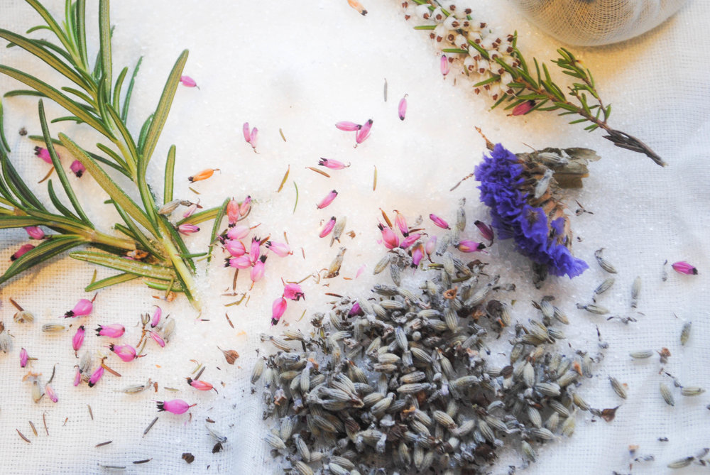 Relaxing in a lovely bath of lavender and epsom salts can really melt away the stress of the day.