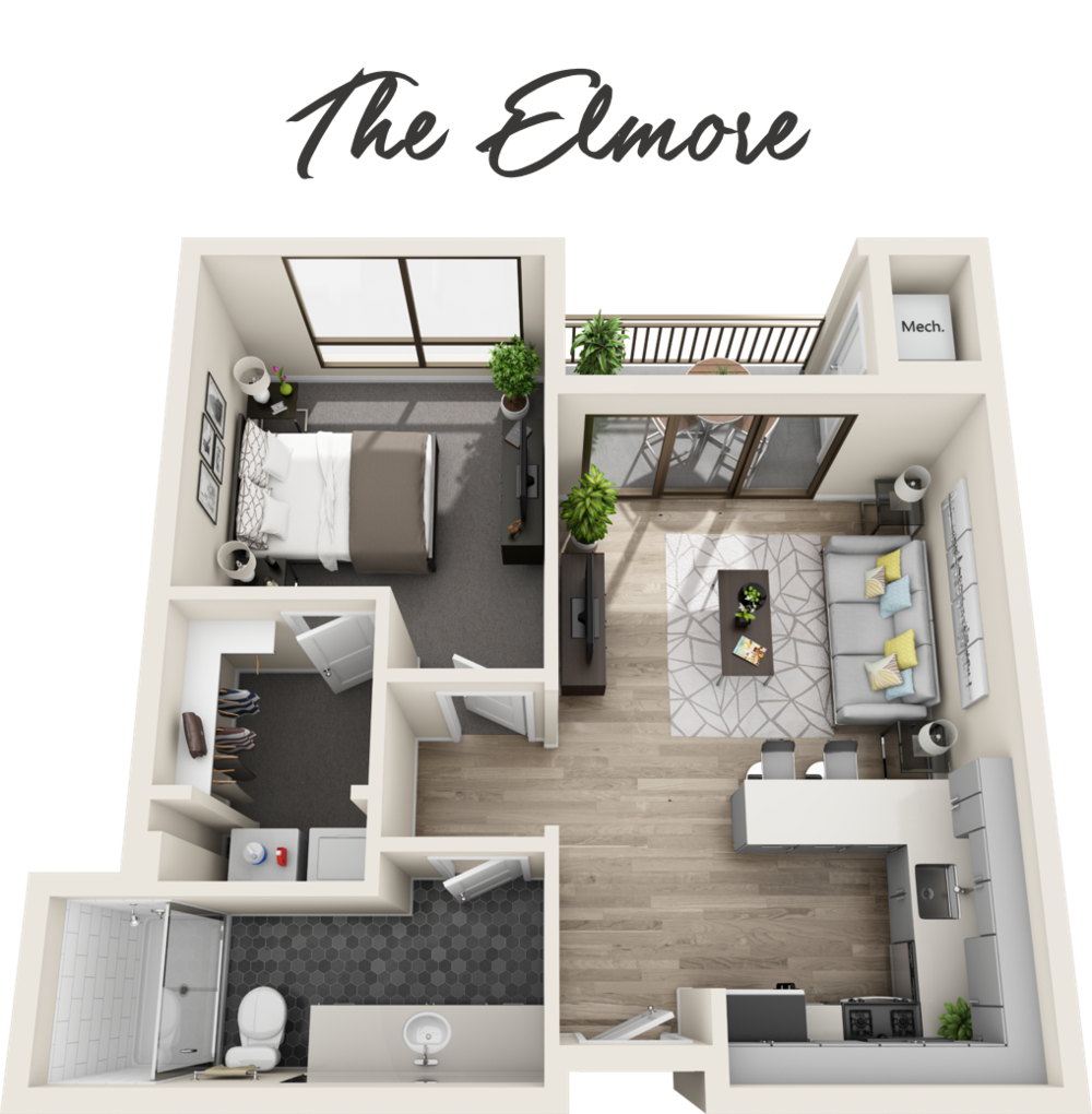 1 Bedroom | 1 Bathroom | Starting from $1,759