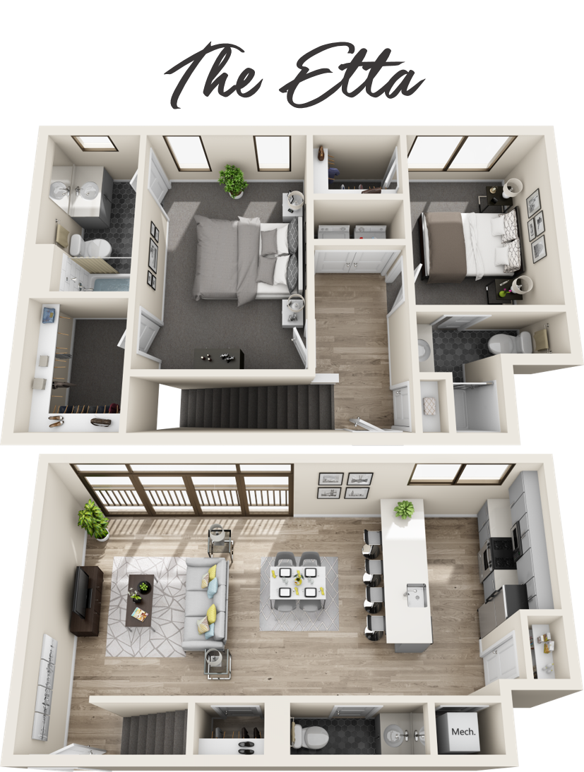 2 Bedroom Townhome | 2.5 Bathrooms | Starting from $3,999