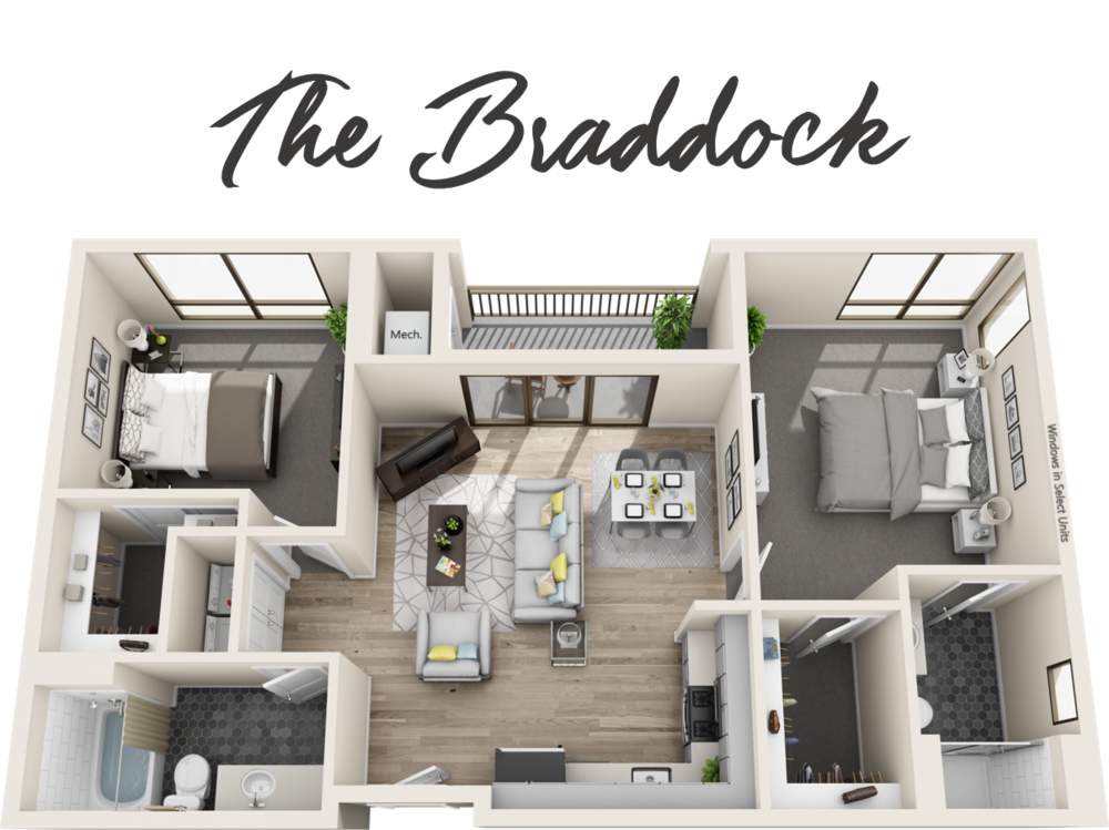 2 Bedrooms | 2 Bathrooms| Starting from $2,549