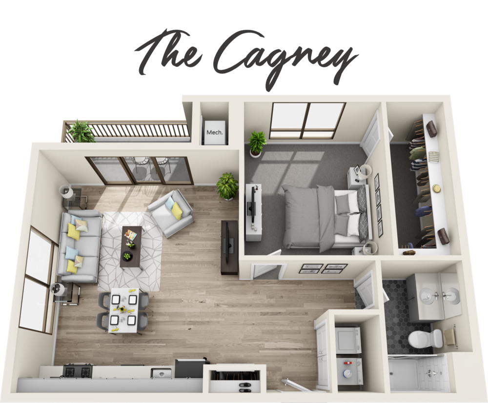 1 Bedroom | 1 Bathroom | Starting from $2,109