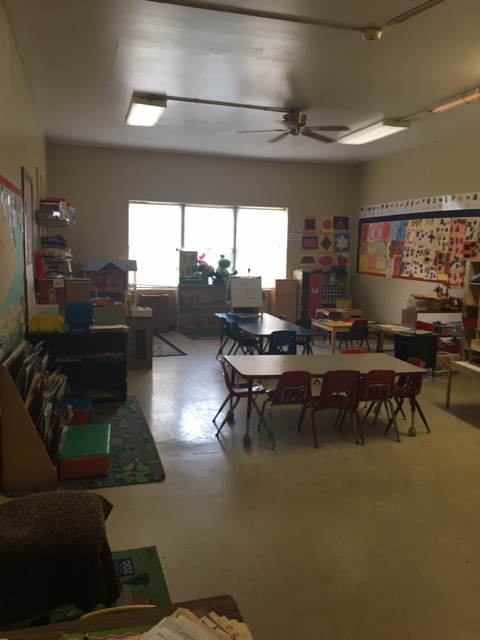 This classroom is used in their Pre-K program, we will be painting and installing new flooring and baseboards in here. Collaborative for Children will bring in new furniture, storage and other classroom items.