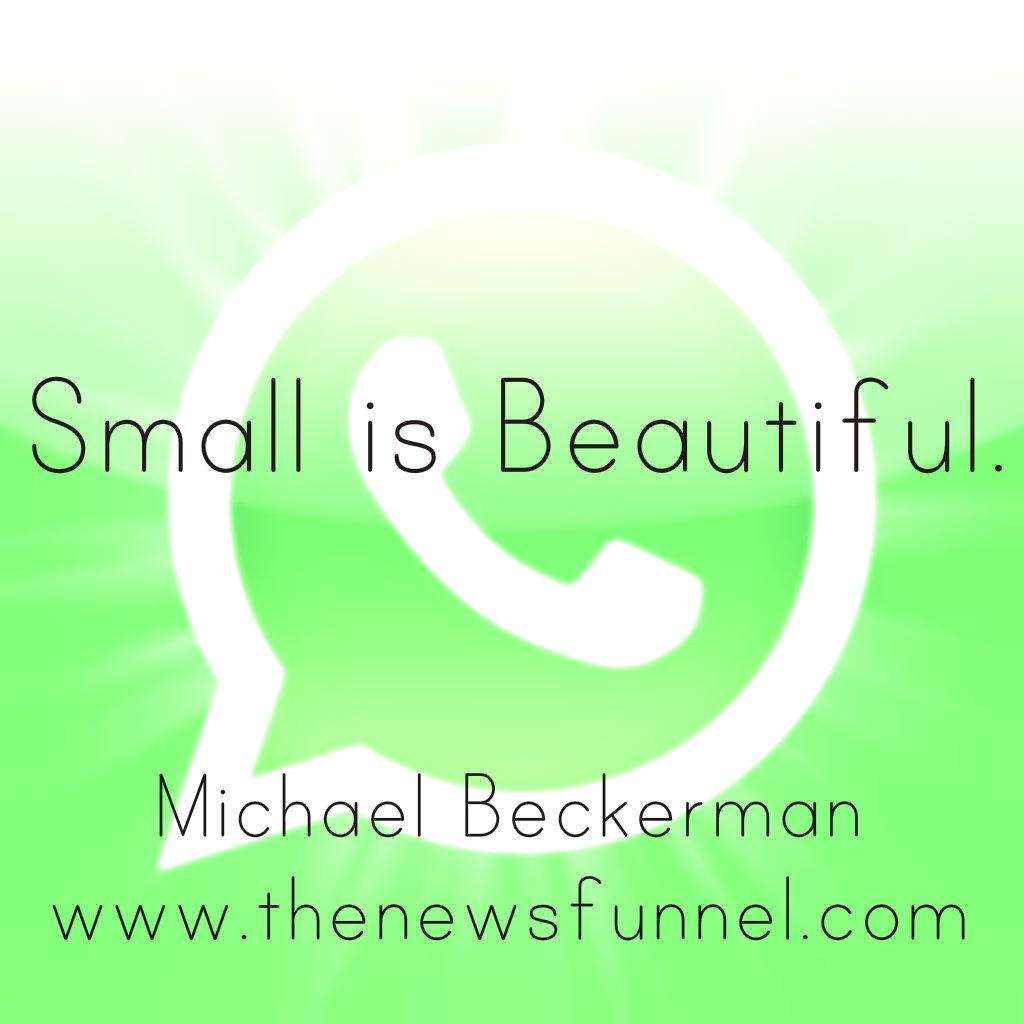 whatsapp, whatsapp news, tech startups, the news funnel, michael beckerman