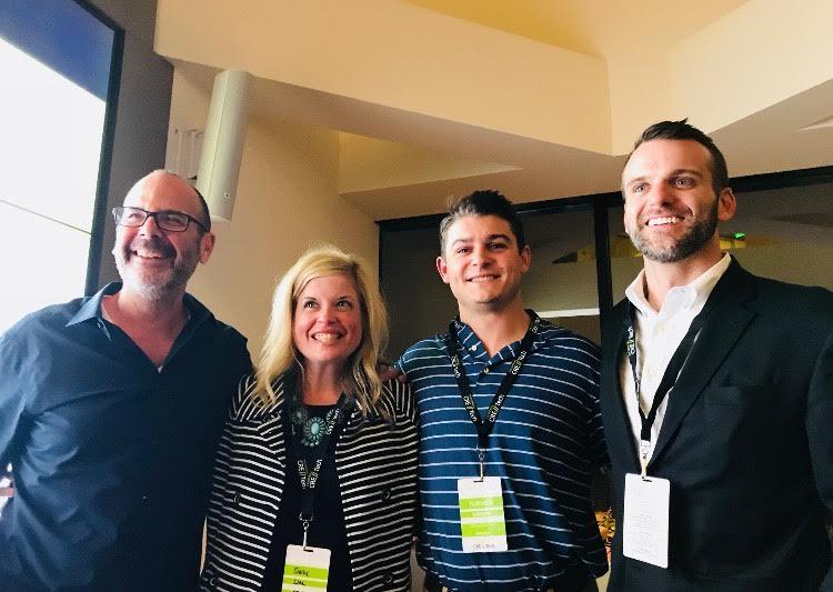 Michael Beckerman, Emily Line, Turner Levison and Pierce Neinken at CRE//Tech L.A.