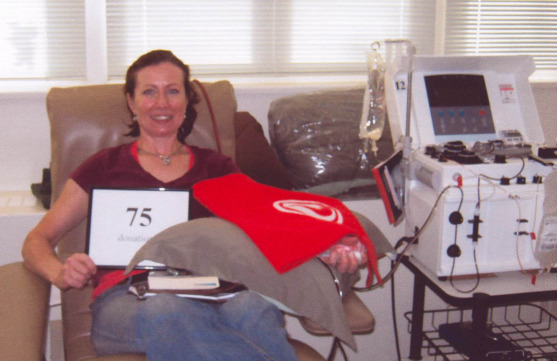 Canadian Blood Services blood donor