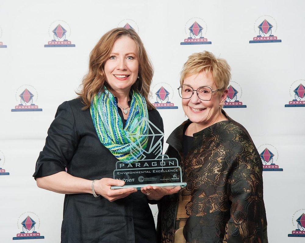 2018 Regina Chamber of Commerce Paragon Award