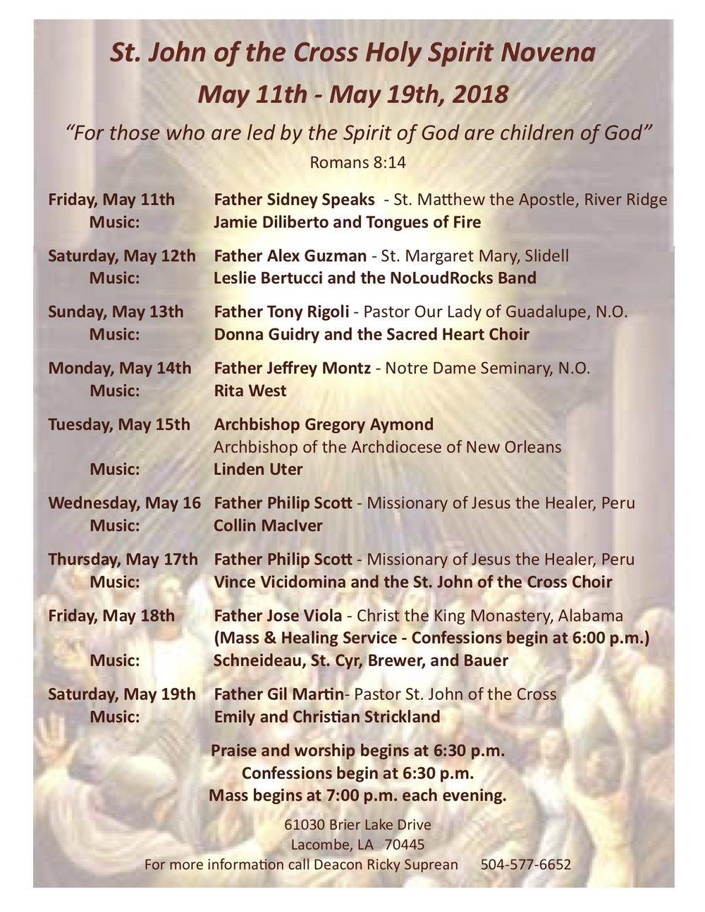 Catholic novenas for healing