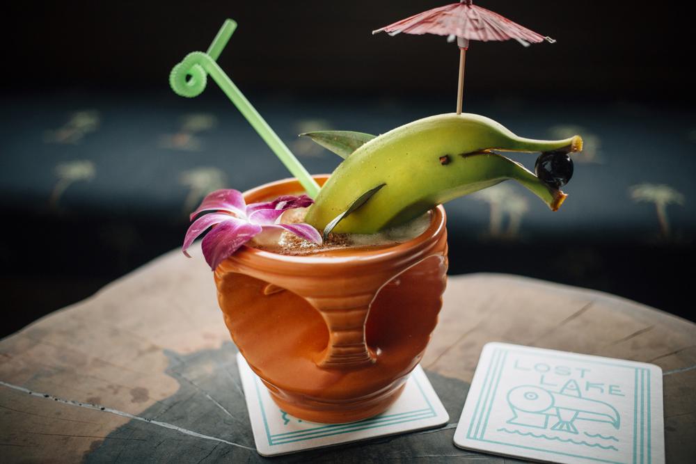 Fun Drinks at Lost Lake Tiki Bar (photo by Clayton Hauck)
