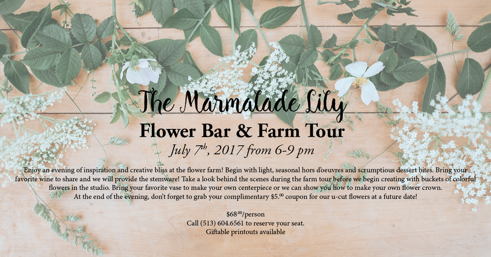 July Flower Bar & Farm Tour