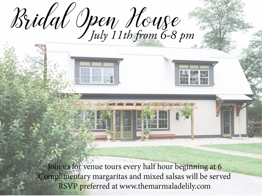 The Marmalade Lily Bridal Open House July 2018