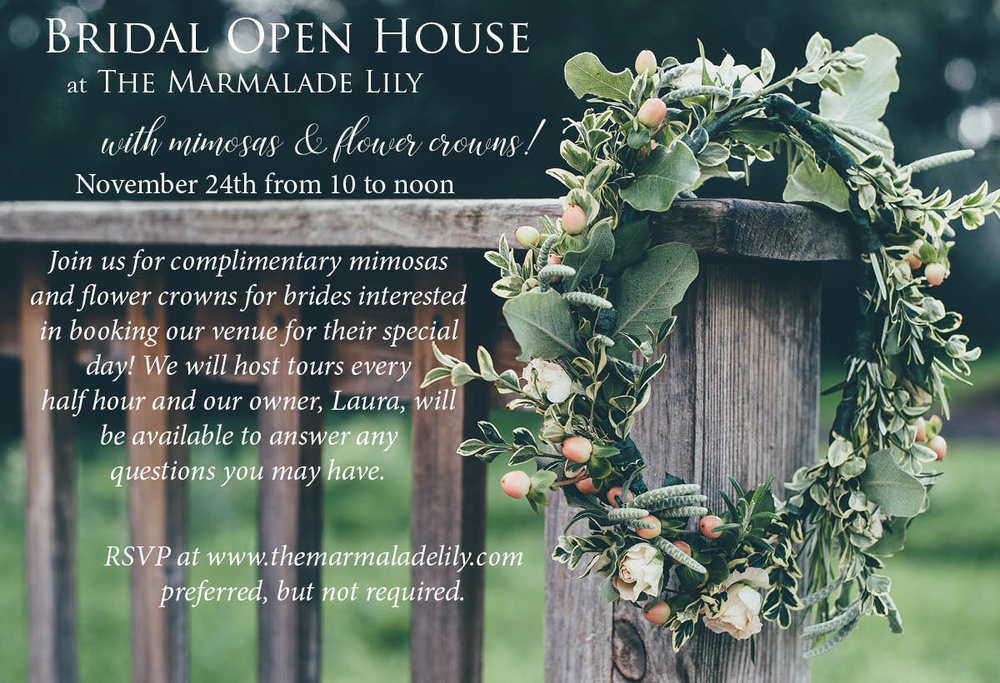 November 2018 Open House The Marmalade Lily Mimosas and Flower Crowns