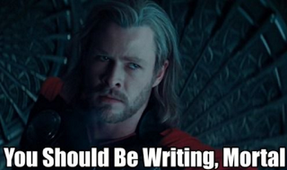 you should be writing-chris hemsworth-thor-author tips-query letter-agent-editor-how to land an agent-novel-writing-aspiring author-how to write query