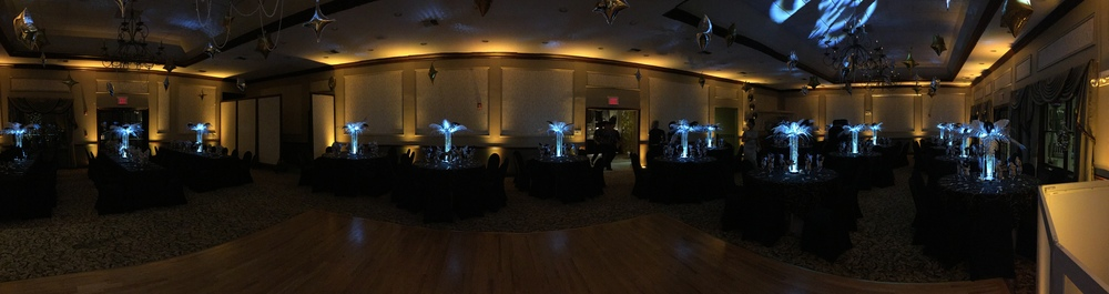 Gold Uplighting at Stanton Ridge Country Club in Whitehouse, NJ