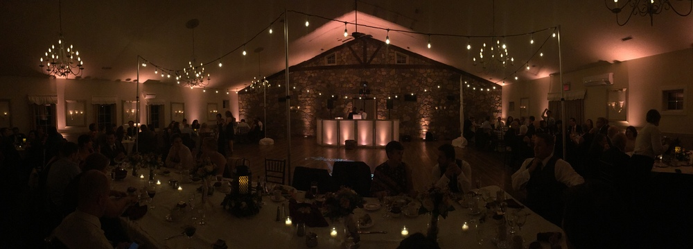 Soft White Uplighting at Holly Hedge Estate in Pennsylvania