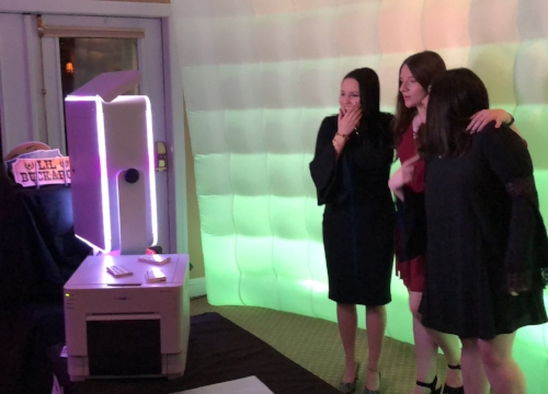 LumiBooth - Only the best in the photo booth world! These photo booths take high quality photos and print within 10 seconds! Our booth is able to have a lighted edge to attract guests and our interactive menus make using them fun!