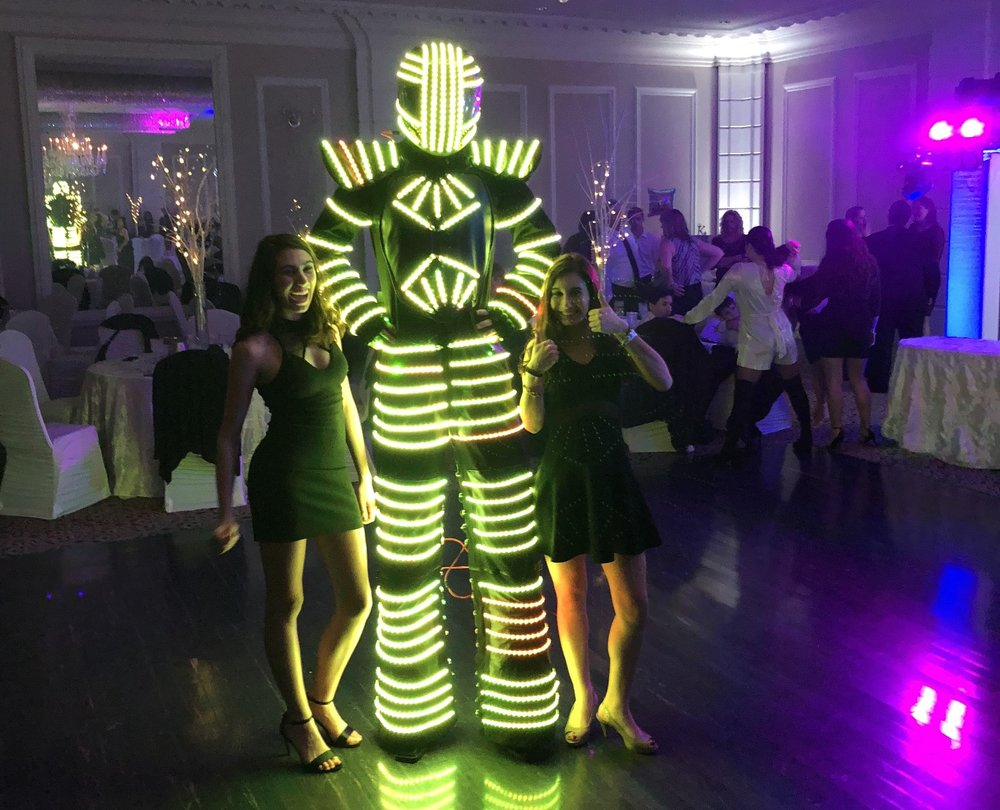 Dancing LED Robot on Stilts - Have the robot come out to your events for an hour long dance session that always lightens up the room.