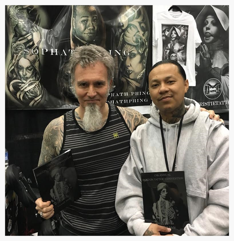 Charles and I at the Boston Tattoo Convention