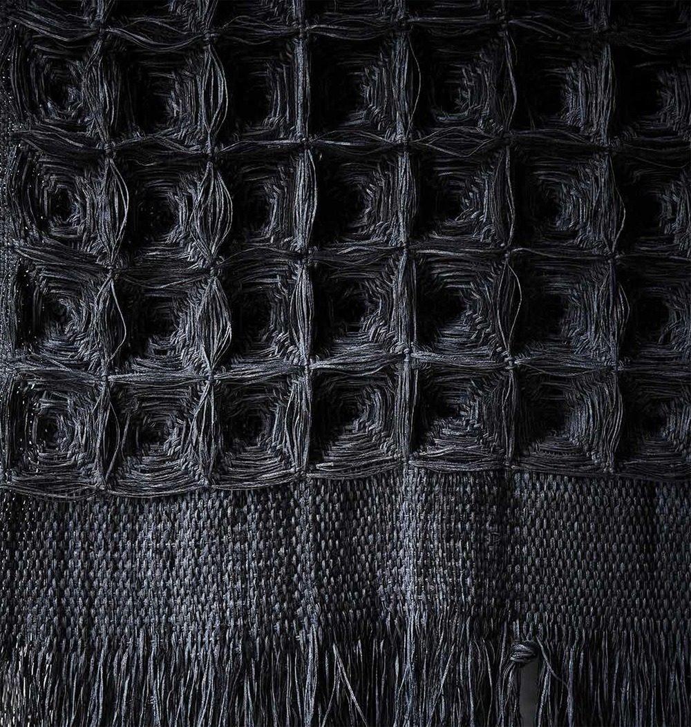 Giant Charcoal, Hiroko Takeda, 2014, NY Studio, 80%22h x 36%22w, mixed natural fibers (detail).jpg