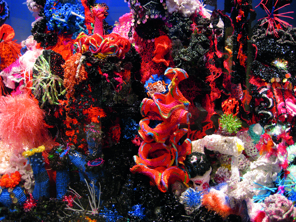 Institute For Figuring's  Crochet Coral Reef    project, 2005-ongoing. Photo courtesy of the Institute For Figuring