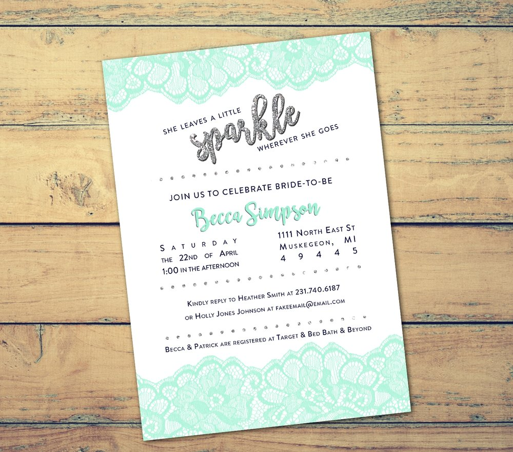 Lace Bridal Shower Invitation