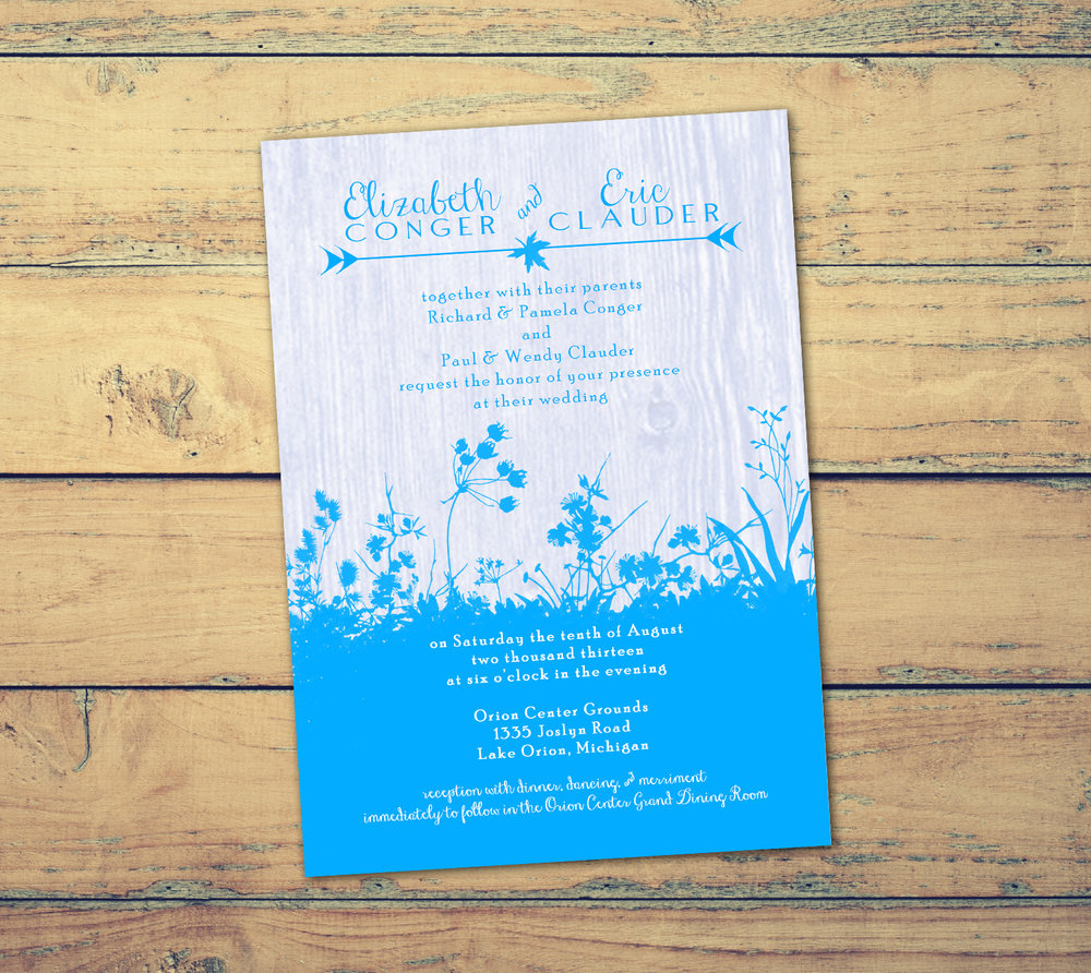 Nature Wedding Invitation