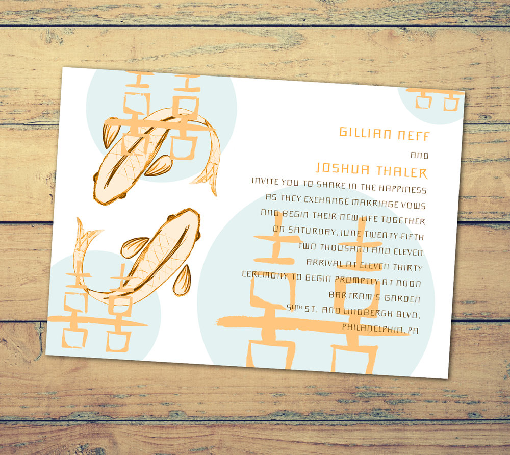Koi Fish Wedding Invitations