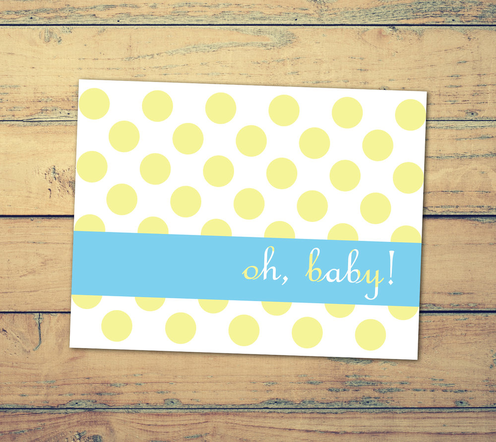 Oh Baby! Baby Shower or Blank Cards